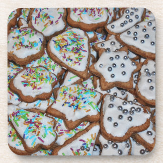 Gingerbread With Sugar Glazing For Christmas Coaster