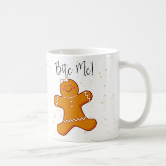 Gingerbread Woman, Bite Me Holiday Mug