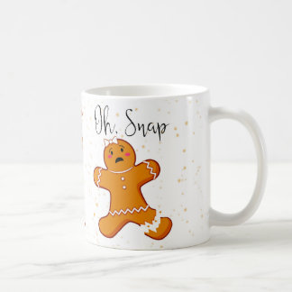 Gingerbread Woman, Oh Snap, Holiday Mug