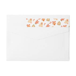 Gingerbread Wraparound Return Address Label