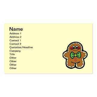 gingerbreadman 001PR CUTE COOKIES WINTER FOODS TRE Business Card