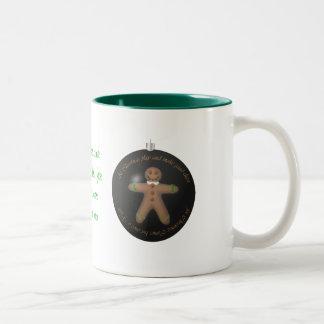 Gingerbreads for Christmas Two-Tone Coffee Mug