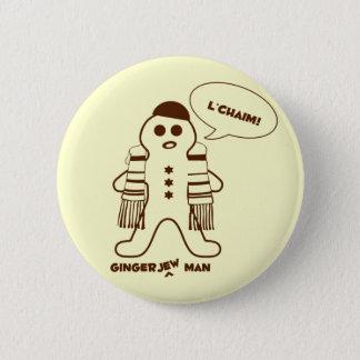 Gingerjew Man 2 Inch Round Button