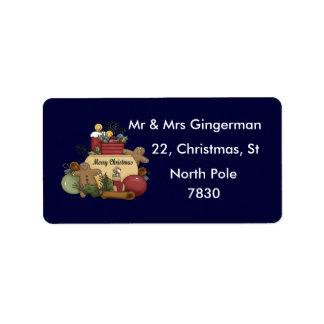 Gingerman Christmas Address Label