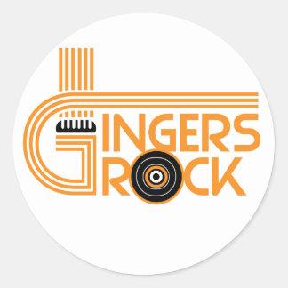 Gingers Rock Round Sticker