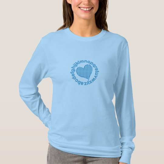 Gingham ABC Heart T-Shirt