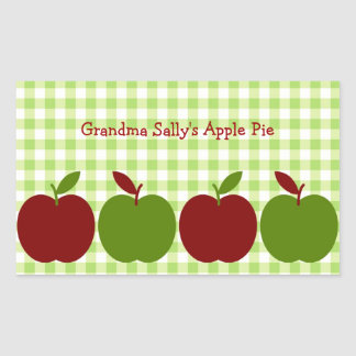 Gingham and Apples Sticker