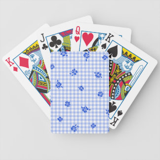 Gingham and Roses 2 Bicycle Playing Cards