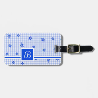 Gingham and Roses 2 Luggage Tag