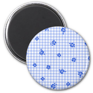 Gingham and Roses 2 Magnet