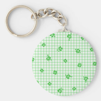 Gingham and Roses 3 Keychain