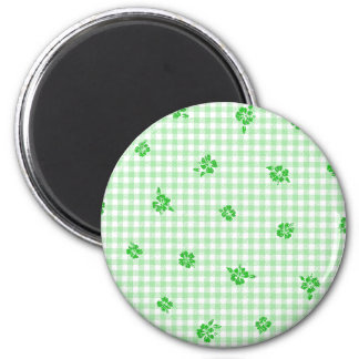 Gingham and Roses 3 Magnet
