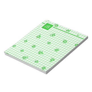 Gingham and Roses 3 Notepad