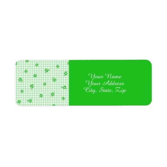 Gingham and Roses 3 Return Address Label