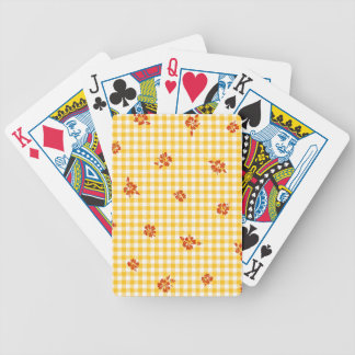 Gingham and Roses 4 Bicycle Playing Cards