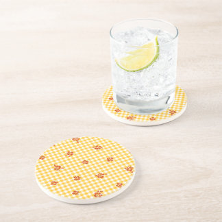 Gingham and Roses 4 Coaster