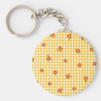 Gingham and Roses 4 Keychain