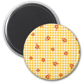 Gingham and Roses 4 Magnet