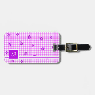 Gingham and Roses 5 Luggage Tag