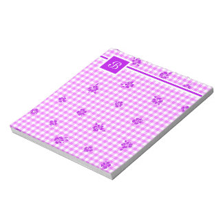 Gingham and Roses 5 Notepad