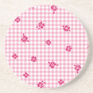 Gingham and Roses Coaster