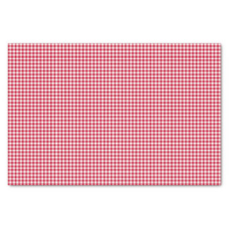 Gingham-Berry-Red-Tissue Wrapping Paper