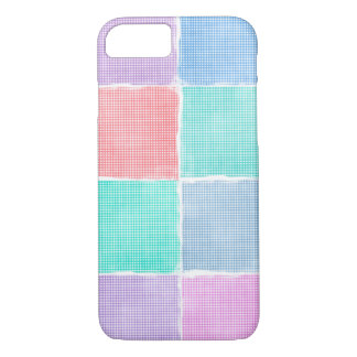 gingham blocks iPhone 8/7 case