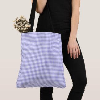 Gingham_Blueberry-Check-Totes-Shoulder-Bag's-Multi Tote Bag