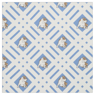 Gingham Bulldog Fabric