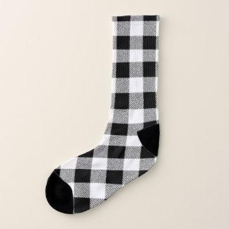 Gingham Check Black Socks