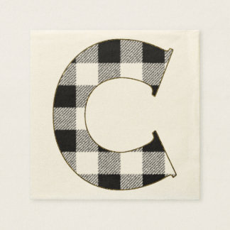 Gingham Check C Disposable Napkin