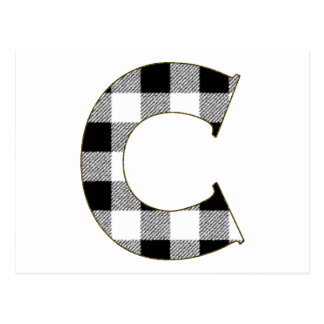 Gingham Check C Postcard