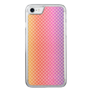 Gingham Check Checkered Bright Colorful Carved iPhone 8/7 Case
