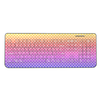Gingham Check Checkered Bright Colorful Wireless Keyboard
