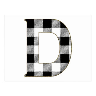 Gingham Check D Postcard