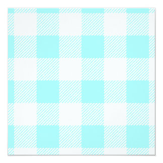 Gingham Check Pattern (light blue) Card