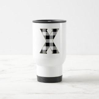 Gingham Check X Travel Mug