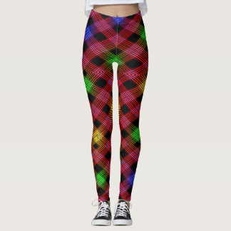 Gingham Checkered Multicolored Leggings