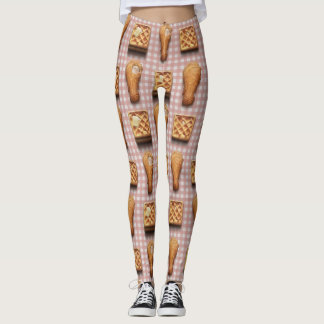 gingham chicken waffles leggings