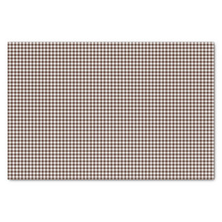 Gingham-Chocolate-Brown-Tissue Wrapping Paper