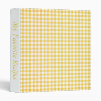Gingham Dreams Recipe Album Vinyl Binder