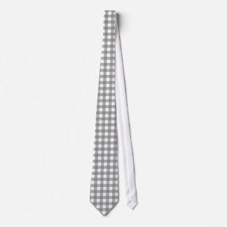 Gingham Gray42 on White Stripes Option 3 Tie