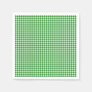 Gingham-Green-Paper Napkins Disposable Napkins