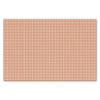 Gingham-Harvest Orange-Tissue Wrapping Paper