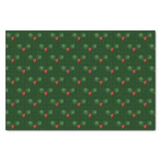 Gingham Holly Berries Tissue Paper