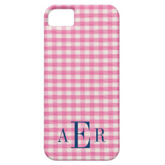 Gingham in Pink iPhone 5 Covers