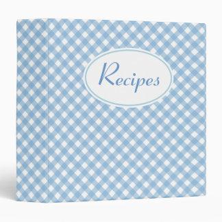 Gingham Kitchen Cookbook Recipe Organizer Gift Binder