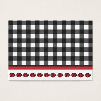 Gingham Ladybug Business Card