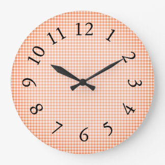 Gingham_Peach-Sangria_ Clocks