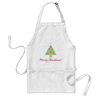 Gingham Plaid Christmas Tree Standard Apron